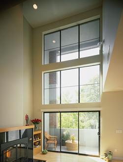 Aluminum Series 3-Panel Sliding Patio Door Mulled Picture Windows In Bronze Anodized