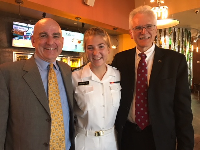 Frank and Chuck at an Office of Naval Research event in Washington DC.  They were joined by Frank's daughter Julianna a United States Naval Academy midshipman.