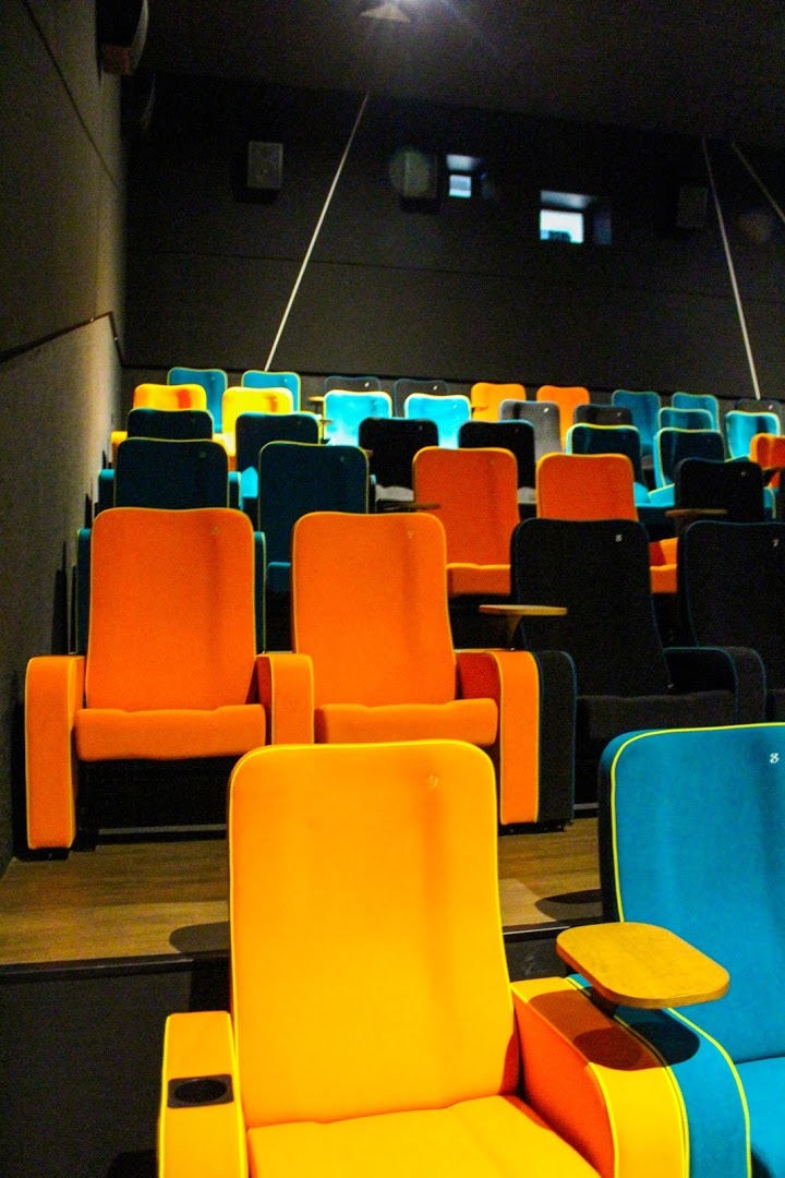 Brightly coloured, innovative seats