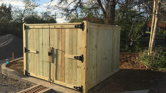 Bryan Fences Commerial Enclosure: