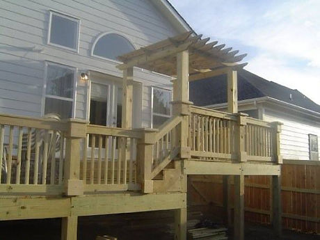 Nashville Fence wood deck installation arbors pergolas fencing contractor company custom bryan fence