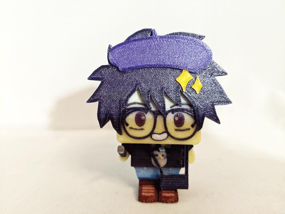 cute boy 3d anime model for kids