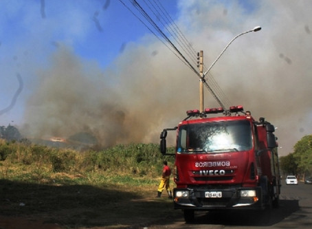 Bombeiros controlam mais um incêndio em Matão.