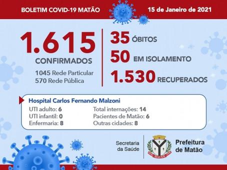 Hospital informa mais um óbito por Covid-19