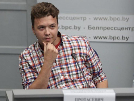 Belarus parades detained journalist Protasevich