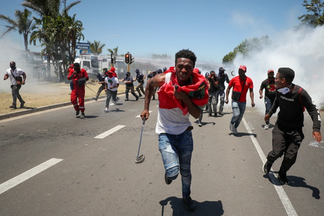 South Africa anti-racism protests over 'whites-only graduation party'
