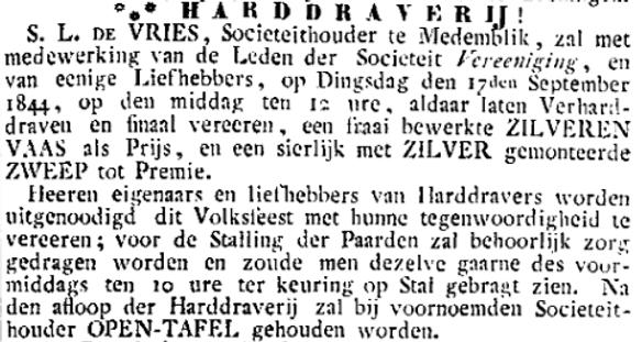 Sip Lim de Vries Kortebaan Medemblik