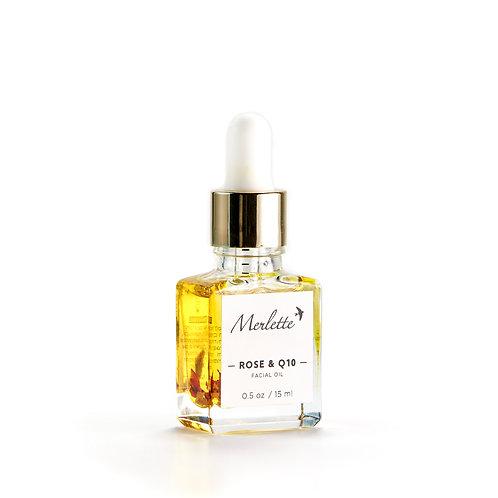 Rose & Coenzyme Q10 Facial oil, 15 ml.