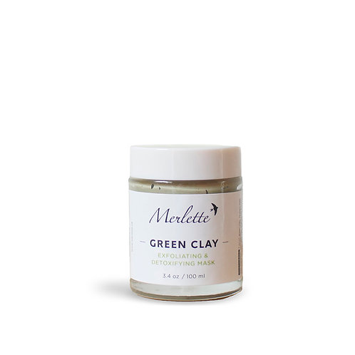Green Clay Exfoliating and Detoxifying Mask, 70 g.