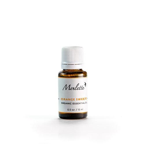 Orange Sweet Organic Essential Oil, 15ml