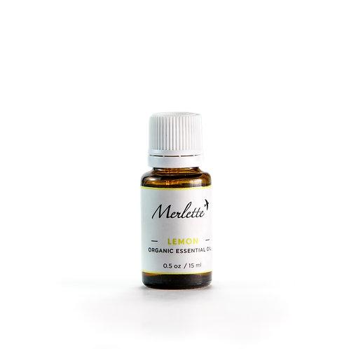 Lemon Organic Essential Oil, 15ml