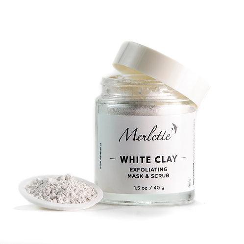 White Clay Exfoliating Mask and Scrub,   2.5 oz / 70 g.