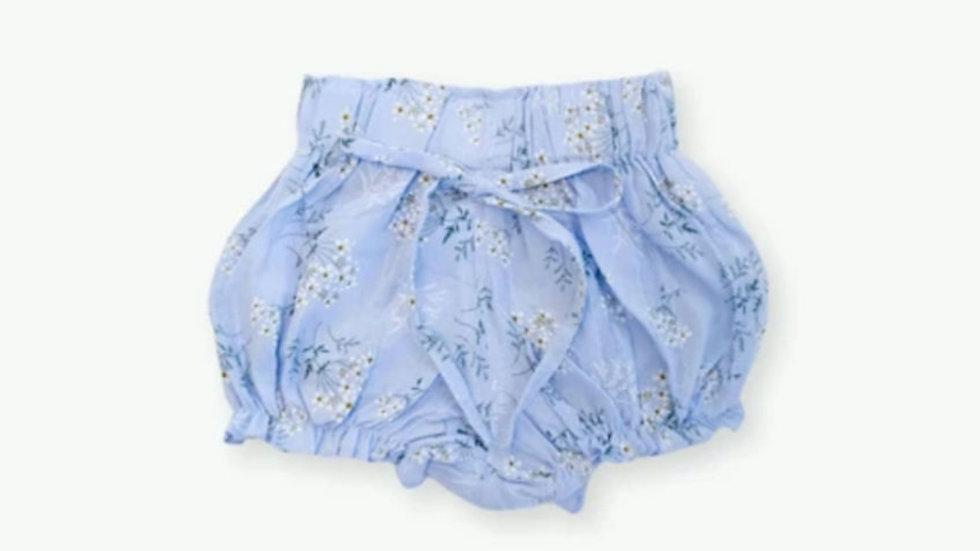 Leah Floral Shorts - Blue