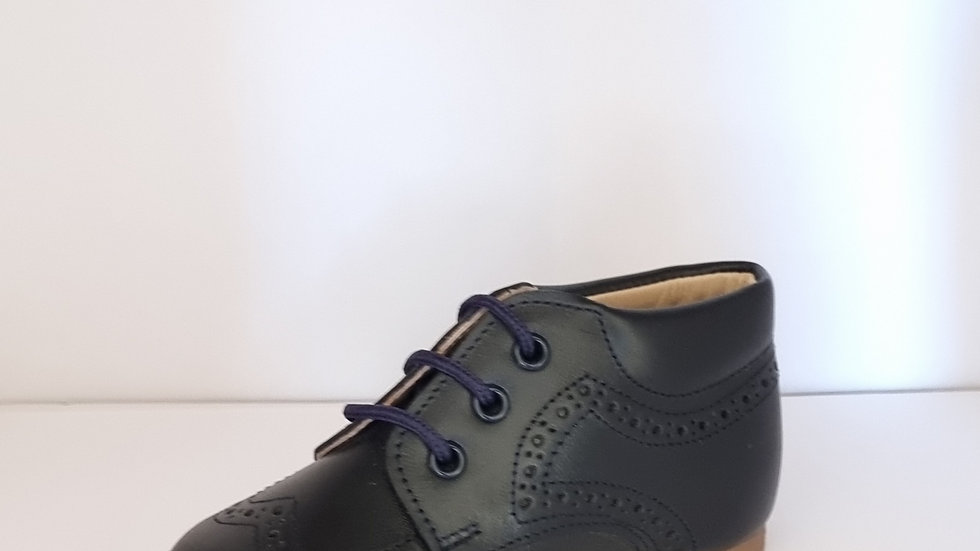 Derby Brogue Boots - Navy