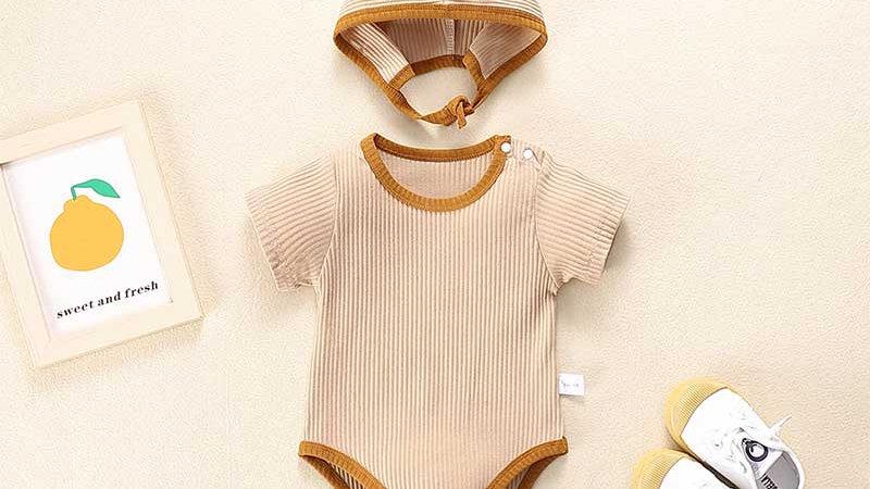 Ribbed Colour Block Baby Set