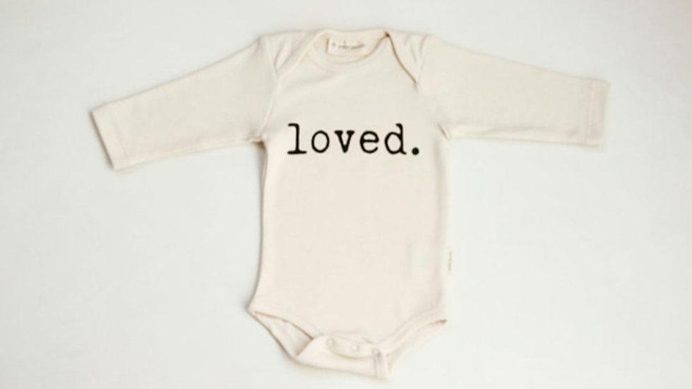 Organic Knit 'Loved' Bodysuit