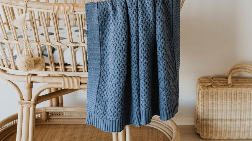 River | Diamond Knit Baby Blanket