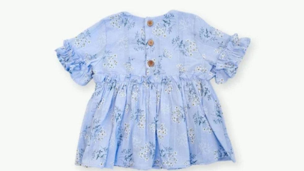 Leah Floral Top - Blue