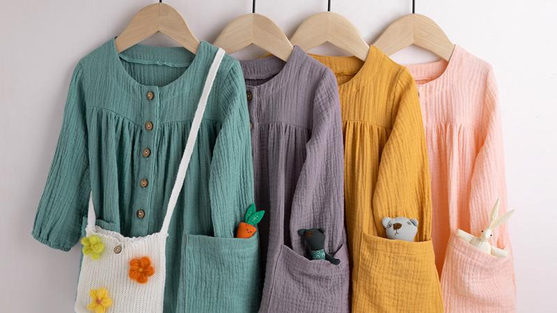 Long Sleeve Pocket Design Dress