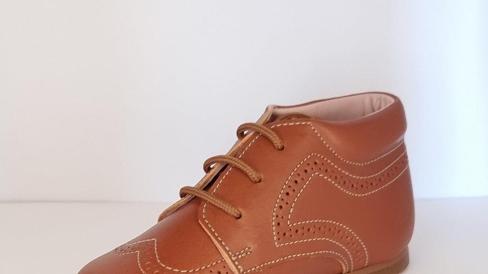 Derby Brogue Boots - Tan