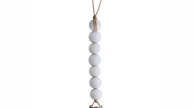 Mushie Pacifier Clips Halo White
