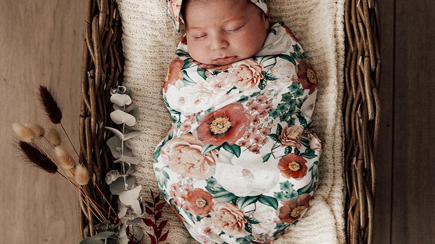 Florence | Snuggle Swaddle & Topknot Set