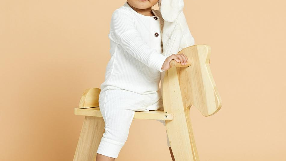 Baby Cotton Knitted Style Long-sleeve Jumpsuit