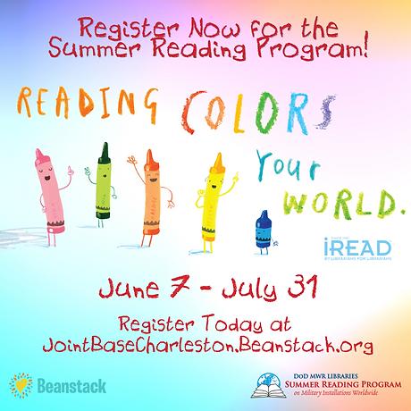 Register Now for the Summer Reading Prog