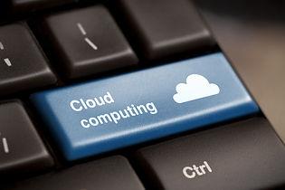 Cloud computing concept showing cloud ic