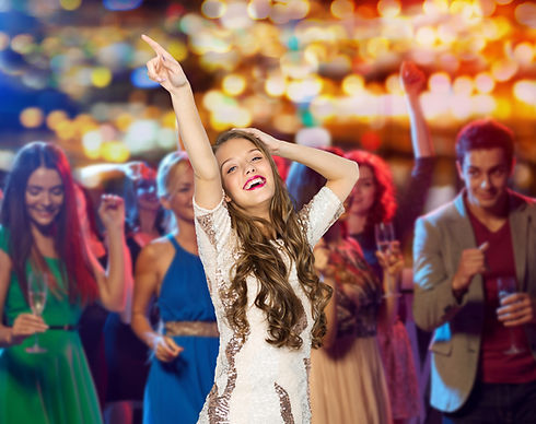 people, holidays and nightlife concept -