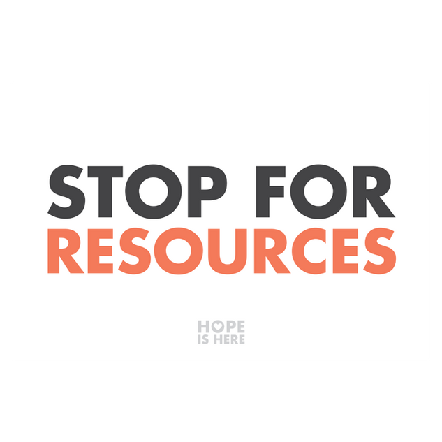 Stop For Resources 4'x3' Sign