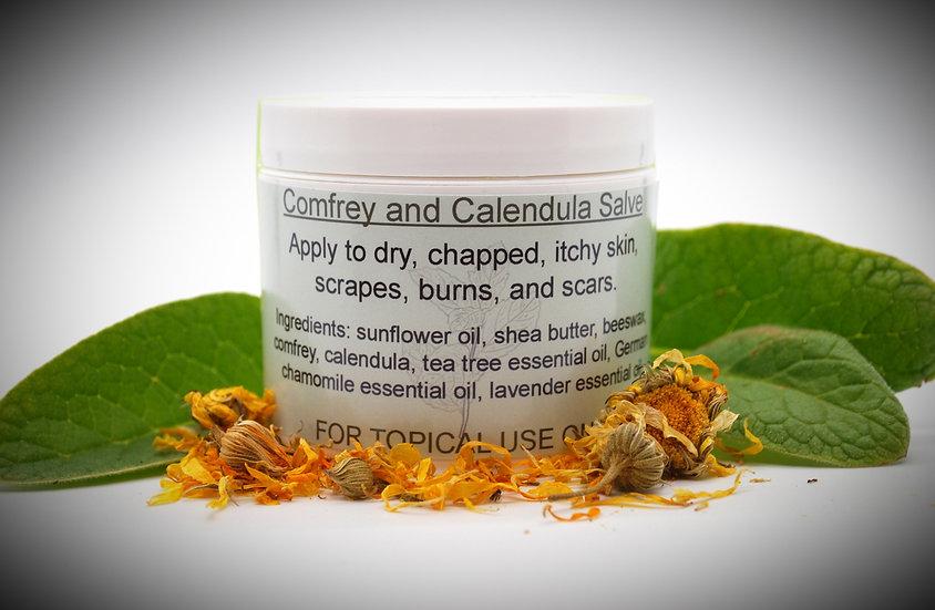 Comfrey and Calendula Salve (4 oz jar)