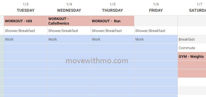 Fitness New Year Resolution Starter To-dos