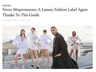 Pronunciation of luxury fashion brands.