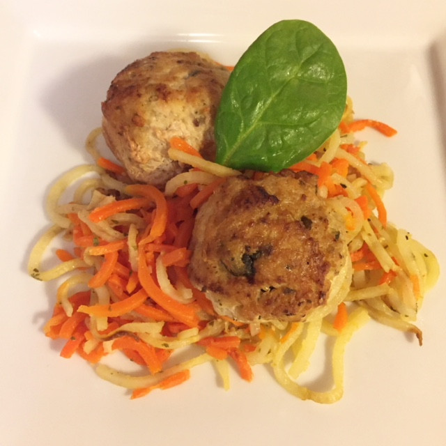 Vegetti & Chicken Spinach Meatballs