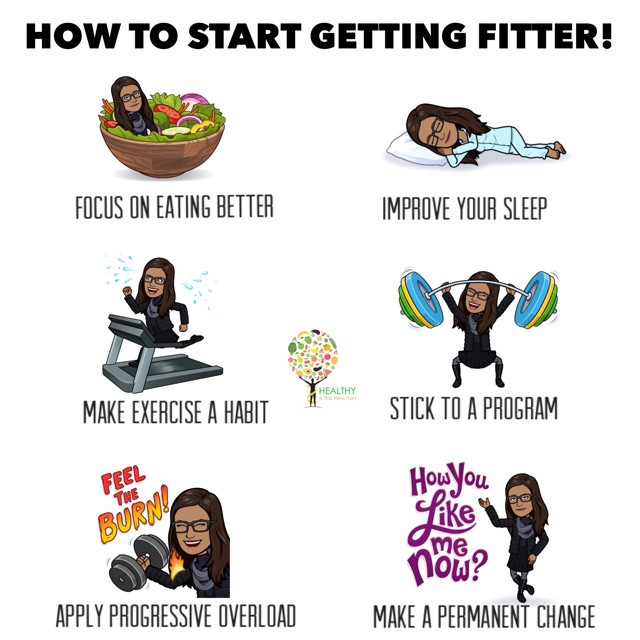 How to start getting fitter!