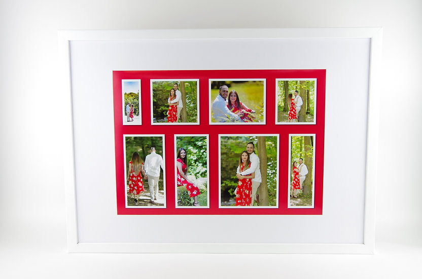 """A2 (23.4""""x16.5"""") sized frame with A3 Grid style mounted collage print"""