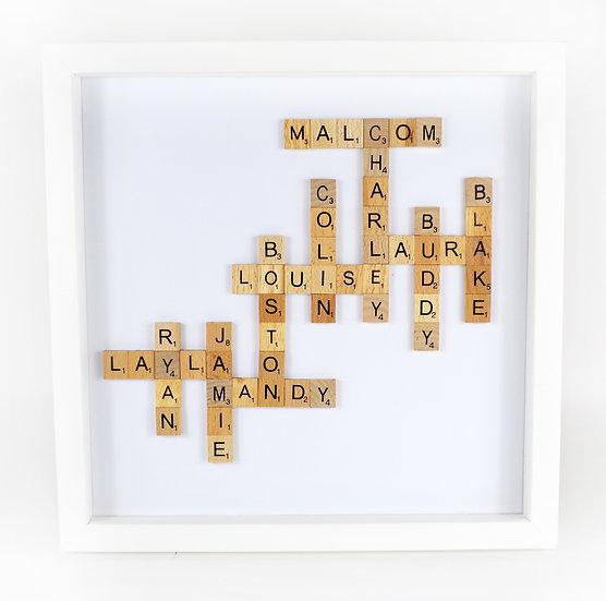 Family Crossword Scrabble Frame