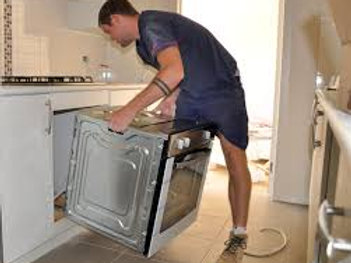 Install electric oven