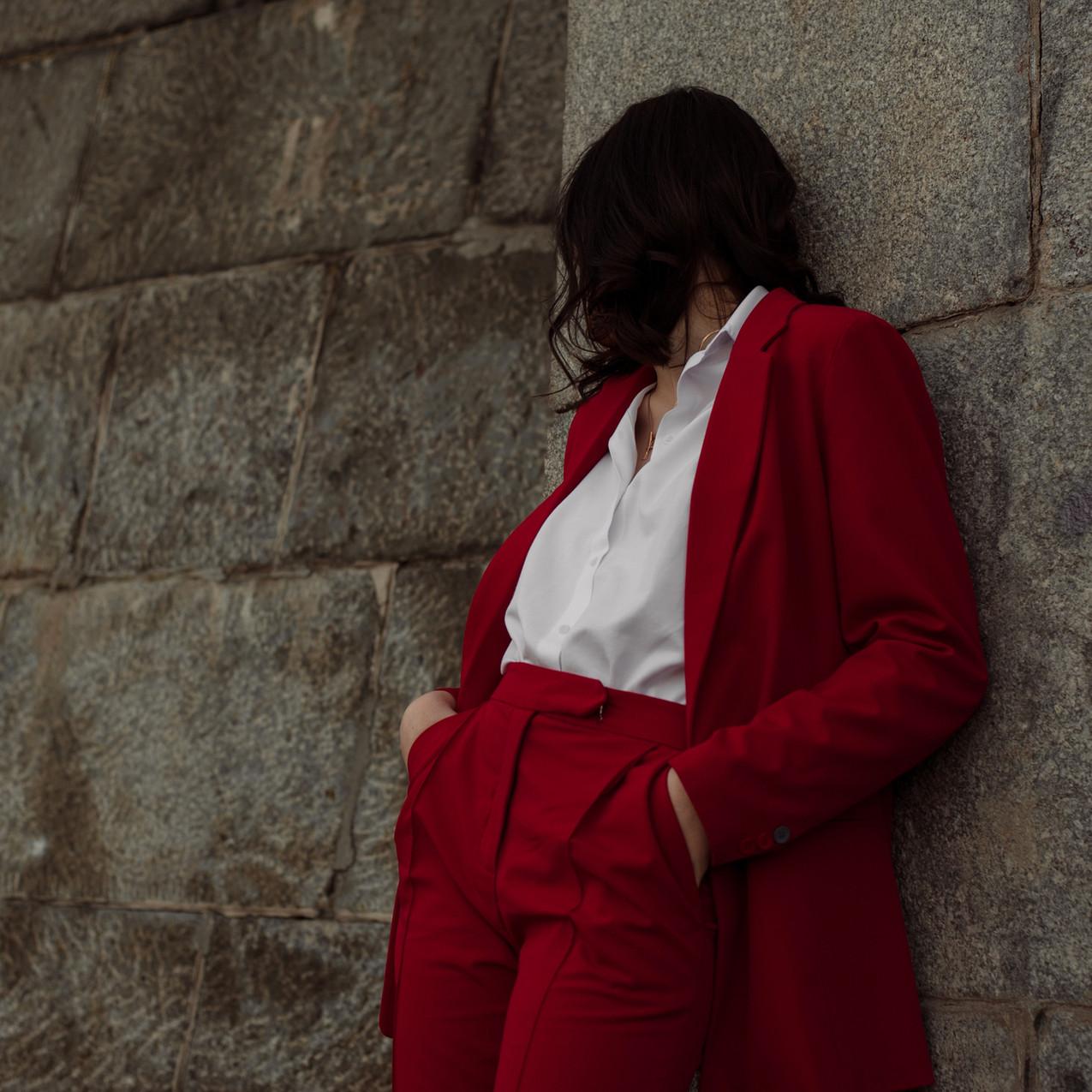 Model in Red