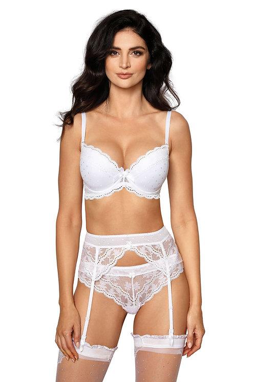 Roza Lagerta Suspender Belt White