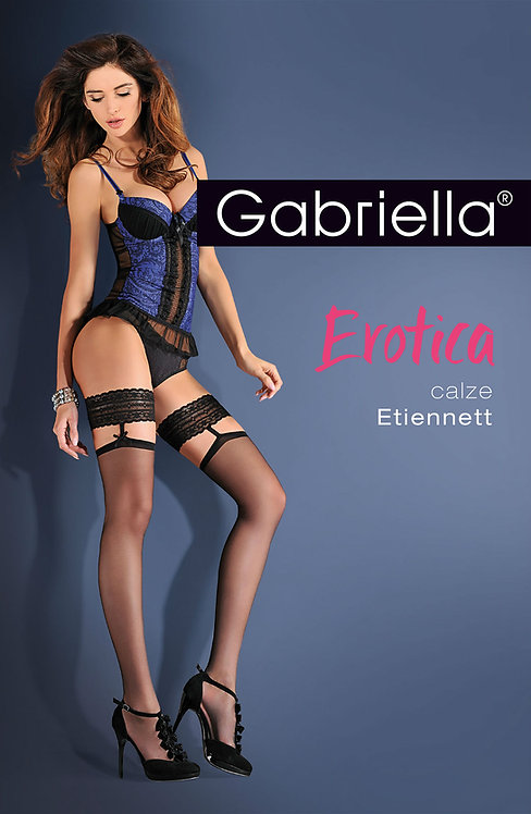 Gabriella Gabriella Erotica Calze Etiennett Nero