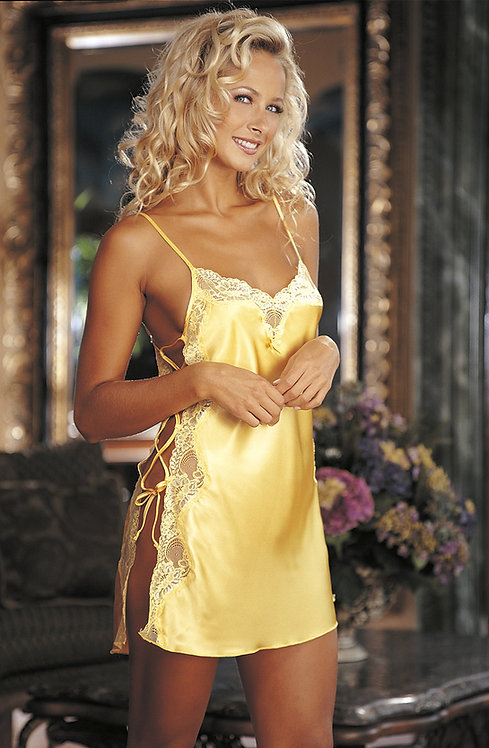 Shirley of Hollywood Lace Chemise Buttercup