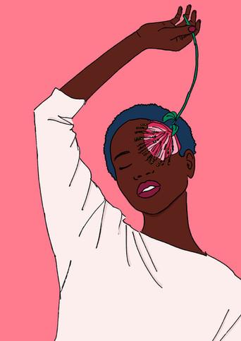 Maite Prince - Floral girl illustration