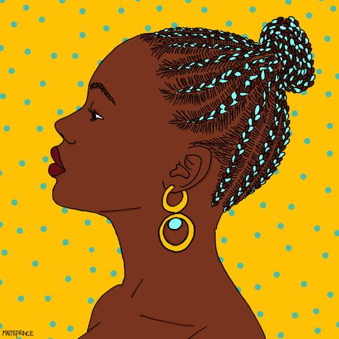 Maite Prince - dots portret illustration