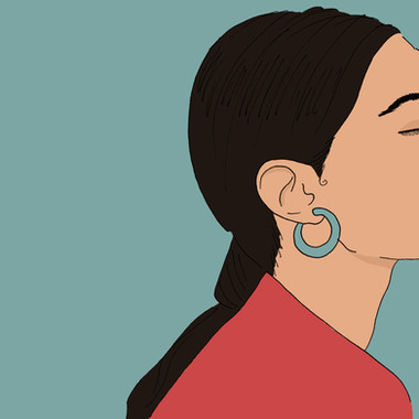 Maite Prince - Sade side profile illustration