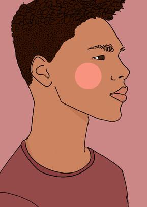 Maite Prince - Shy guy illustration right side