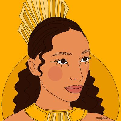 Maite Prince - sunny girl illustration