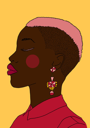 Maite Prince - side profile Afropunk illustration