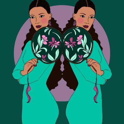Maite Prince - pastel twin illustration